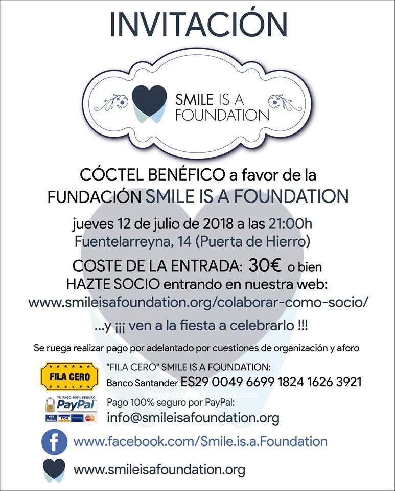 invitacion fiesta Smile is a Foundation 2018 Zimbabwe