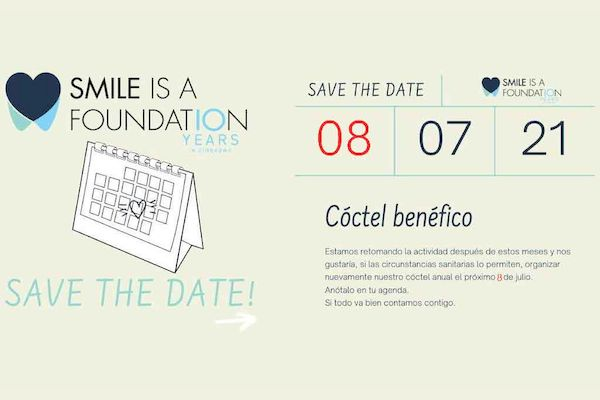 Save The Date: 8 de julio de 2021 cóctel benéfico de Smile is a Foundation